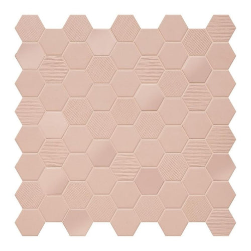 Rosy Blush Hex Patterned Mosaic 316x316mm