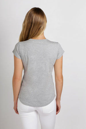Basic Crew Tee | Grey Marle