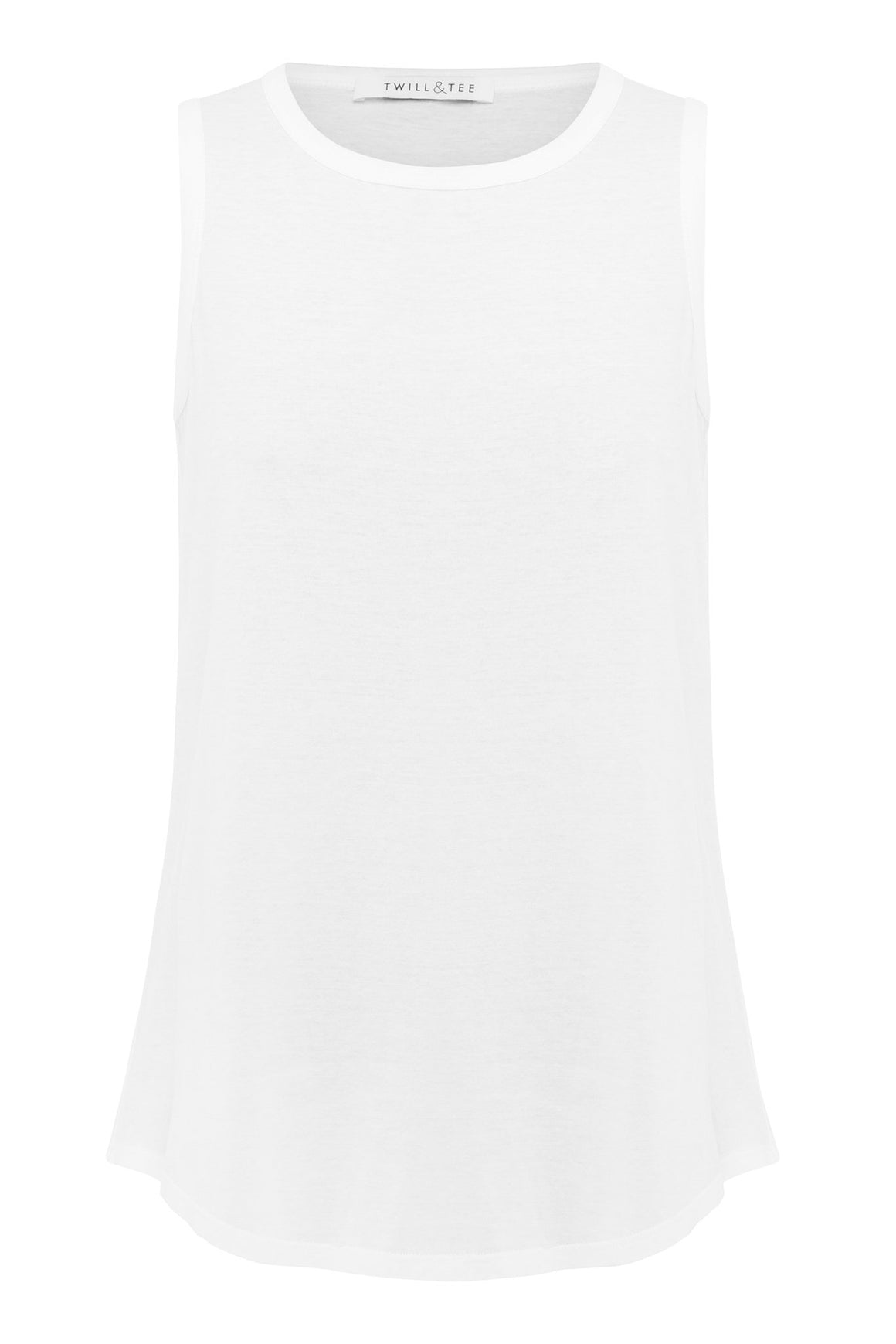 Racer Back Singlet | White