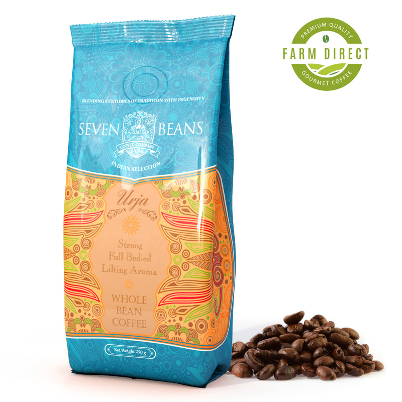 "Seven Beans ""Urja"" Medium Roast, Single Origin, Gourmet Indian Coffee"