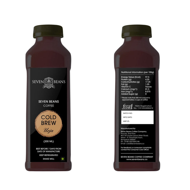 Urja - Cold Brew (Currently delivering within Bangalore only)
