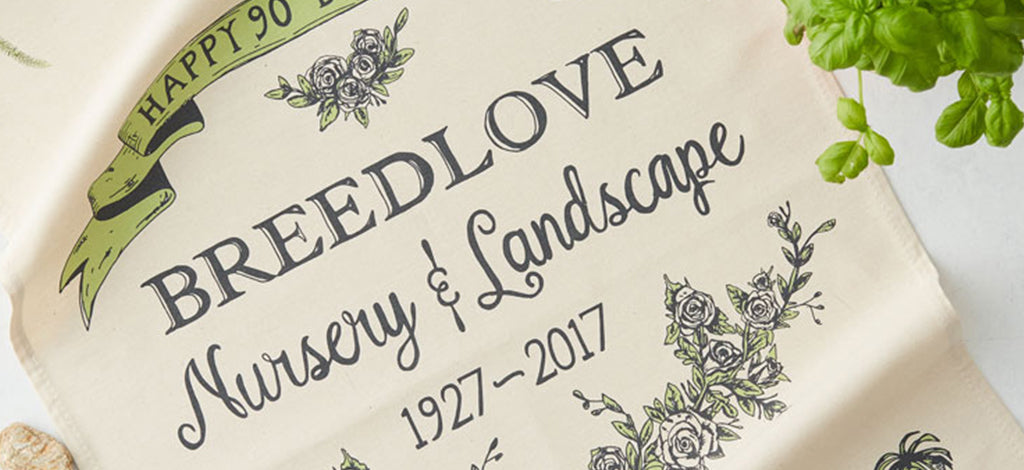 Breedlove Nursery tea towel