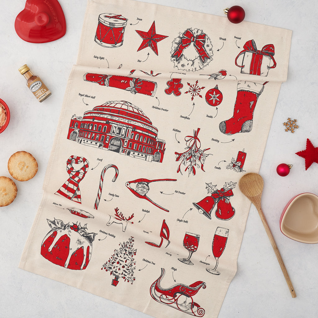 Royal Albert Hall Christmas Tea Towel
