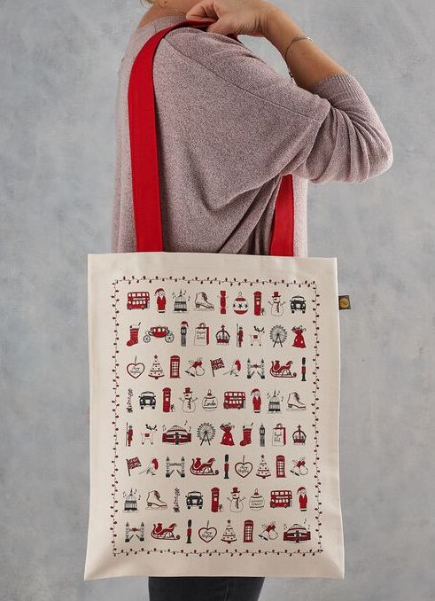 London Christmas Canvas Bag - PRE ORDER