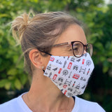 London Icons Fitted fabric Face Mask