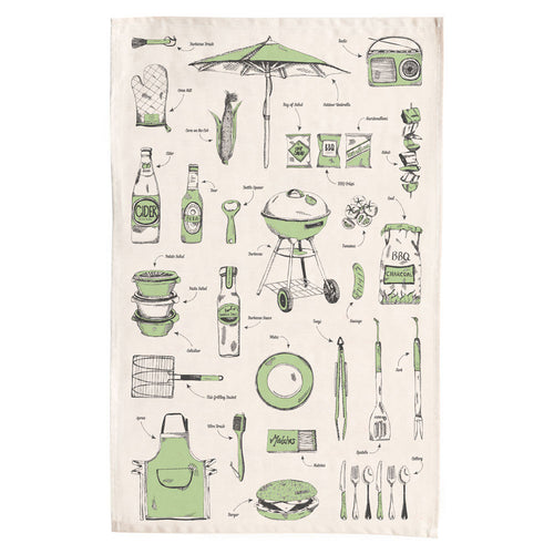British Barbecue Tea Towel