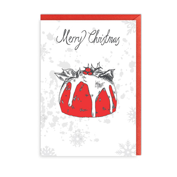 Christmas Pudding Greeting Card Pack of 5