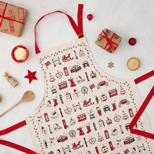 London Christmas Apron