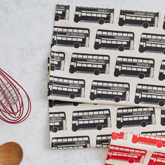 London Bus Repeat Tea Towel