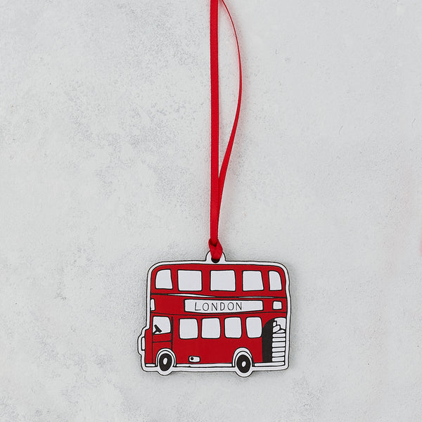 London Bus Wooden Decoration