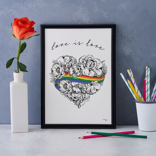 Love is Love A4 and A3 Prints