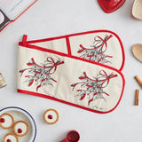 Mistletoe Double Oven Glove