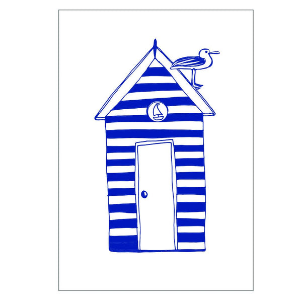 Beach Hut Greeting Card