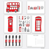 Pack of Six London Post Cards
