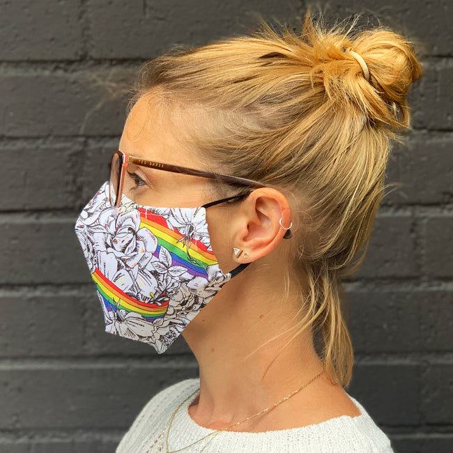 Rainbows and Roses Face Masks