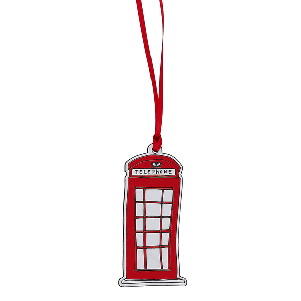 Telephone Box Wooden Decoration