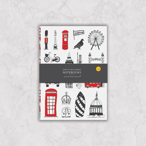 Set of Two London A5 Notebooks