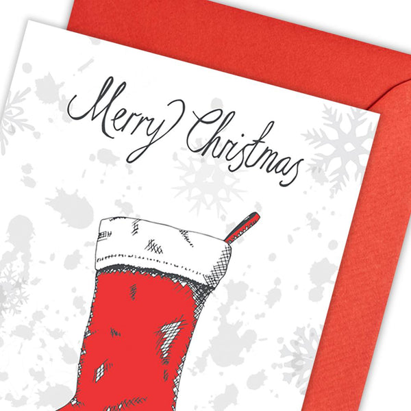 Christmas Stocking Greeting Card Pack of 5