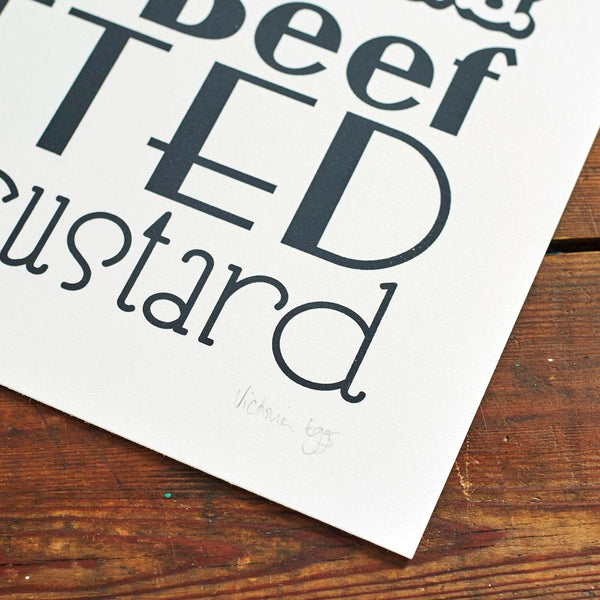 English Dinner Screen Print