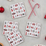 London Christmas Coasters - Set of 4