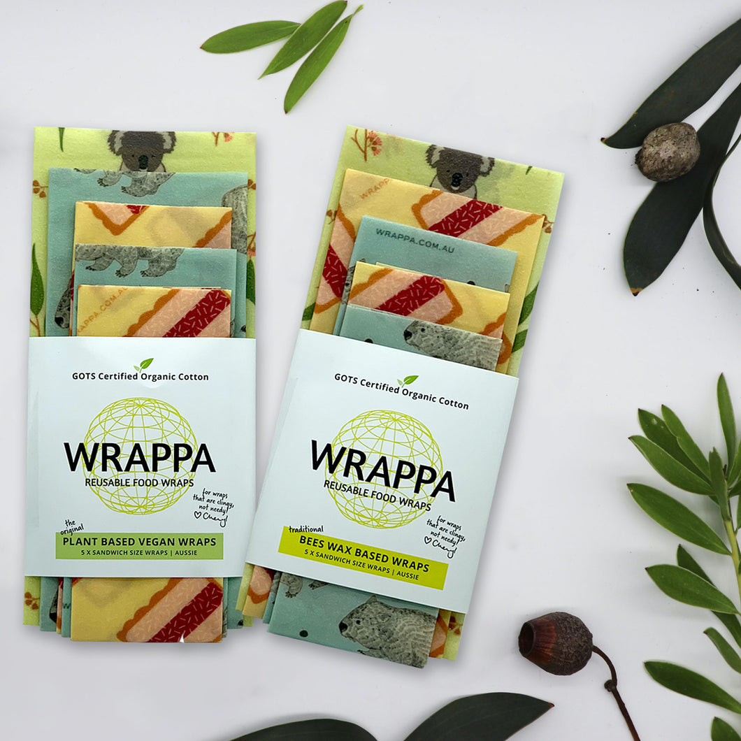 Reusable Beeswax Wraps 5 Pack