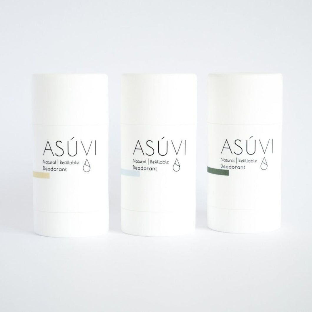 Natural Refillable Deodorant (3-pack)