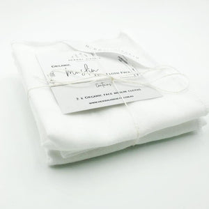 Organic Muslin Face Cloth - 4 Pack
