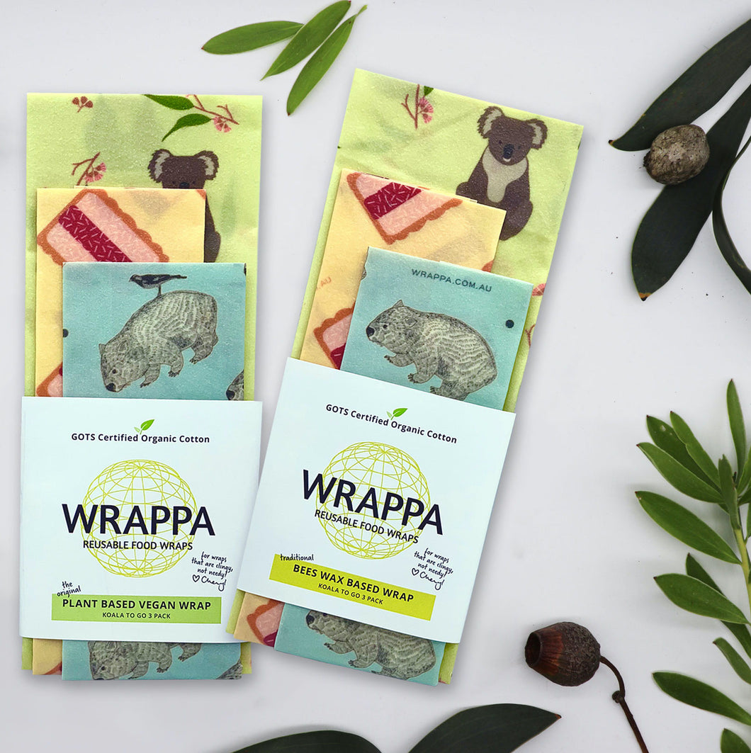 Limited Edition Aussie Reusable Beeswax Wraps 3 Pack