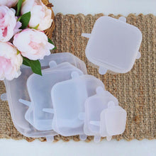 Square Silicone Food Covers 6 Pack