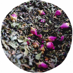 Green Tea, Mint & Rose Loose Leaf Blend
