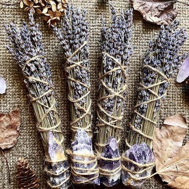 Rustic Lavender & Amethyst Cleansing Smoke Bundles - Single Bundle
