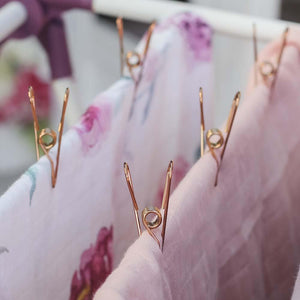 Rose Gold Stainless Steel Infinity Clothes Pegs