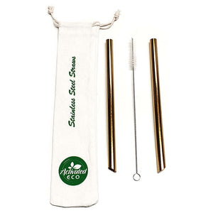 Stainless Steel Bubble Tea Straws (2-pack)