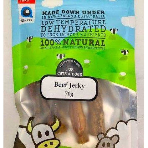 Alfa Pet Beef Jerky Stick 70g - Summers Pet Accessories