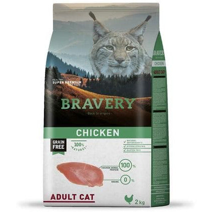 Bravery Adult Cat Kibble Chicken 7kg - Summers Pet Accessories