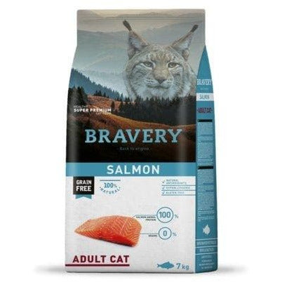 Bravery Adult Cat Kibble Salmon 7kg - Summers Pet Accessories