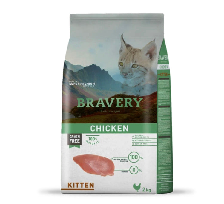 Bravery Kitten Kibble Chicken 2kg