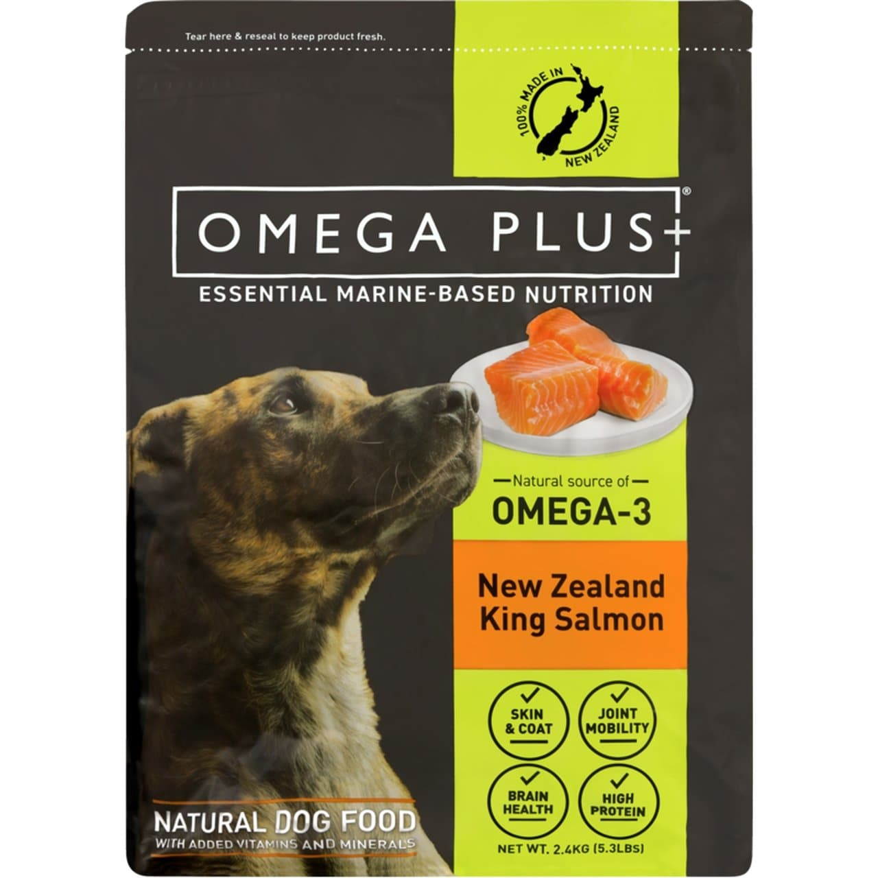 Omega Plus King Salmon 2.4kg Bag - Summers Pet Accessories