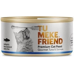Tu Meke Gourmet Tuna & Salmon Cat Cans 85g - Summers Pet Accessories