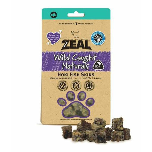 Zeal Hoki Fish Skins 125g - Summers Pet Accessories