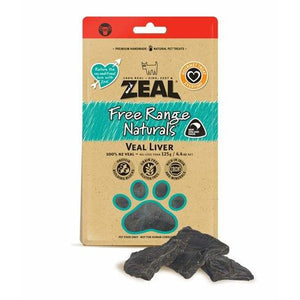 Zeal Veal Liver 125g - Summers Pet Accessories