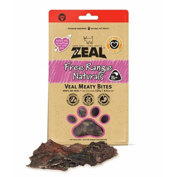 Zeal Veal Meaty Bites 125g - Summers Pet Accessories