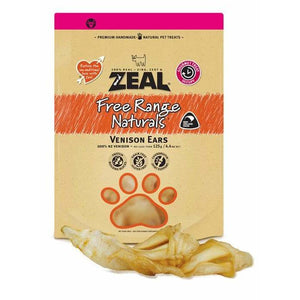 Zeal Venison Ears 125g - Summers Pet Accessories