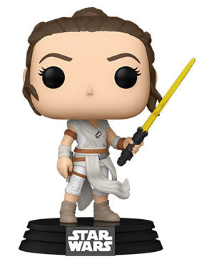 Funko POP! Star Wars: The Rise of Skywalker: Rey with Yellow Saber (S2)
