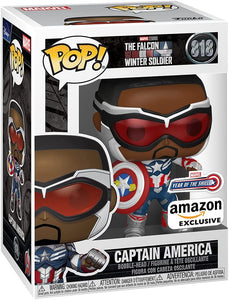Funko POP! Marvel: Falcon and The Winter Soldier - Captain America (Sam Wilson) with Shield (Year of The Shield) Amazon Exclusive