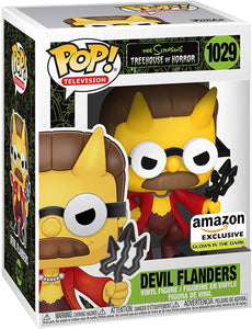 Funko Pop! Treehouse of Horror: The Simpsons - Devil Flanders (GITD) Amazon Exclusive