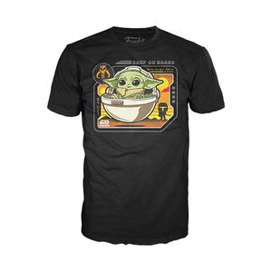 Funko POP! TEES: The Mandalorian - The Child Baby on Board