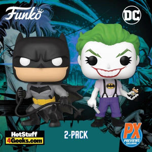 POP! SDCC 2021: DC BATMAN WHITE KNIGHT BATMAN/JOKER PX EXCLUSIVE 2PK