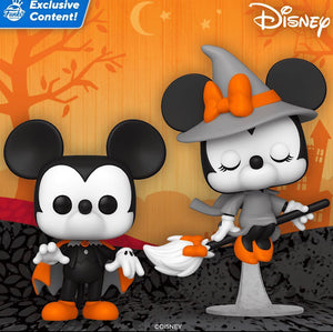 POP! Disney: Halloween Mickey & Minnie Set of 2