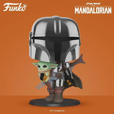 POP! Star Wars: The Mandalorian 10-Inch (Chrome)